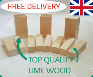 Lime Wood Hand Carving Blanks Blocks 11 Piece.Two sizes. Basswood, Linden.