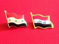 Iraq-Iraqi Falg Small Metal Pin, Saddam Hussein Era & Post Saddam,Lot Of 2.