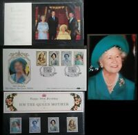 GB 1990 Queen Mothers 90th Birthday Benham Clarence House + P Pack + Photo + FDC