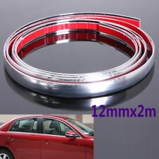 12mm Chrome Moulding Trim Strip Car Door Edge Scratch Guard Protector Strip Roll