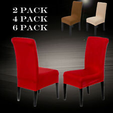 Dining Chair Covers Stretch Lycra Slipcovers Removable Chair Protective Cover