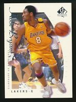 1999-00 SP Authentic #38 Kobe Bryant Los Angeles Lakers Upper Deck RARE Card