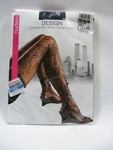 Hudson Women Black 42-44 M Lace Pantyhose Tights Steam Punk Costume Halloween
