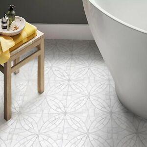 CUT-SAMPLE £11.89m2 - Mosaic Light Grey Matt Porcelain Tile Anti Slip Floor/Wall
