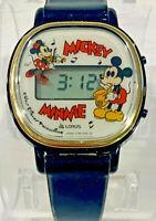 Vintage Lorus Japan Y798 5090 Mickey Minnie Digital Musical Child's Wrist Watch