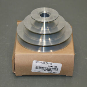 """Congress Stepped V-Belt Pulley SCA400-3X062KW, 5/8"""" Bore, 3 Groove, 4L A, Zinc"""