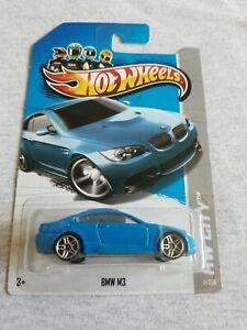 2013 Hot Wheels BMW M3 Light Blue 7/250 EXCELLENT CARD Street Power
