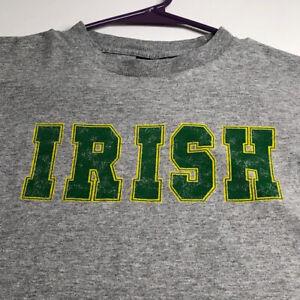 Irish Men's Short Sleeve T Shirt Small S Green Gray Crewneck Clothing