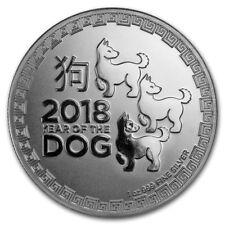 NIUE 2 Dollars Argent 1 Once 2018 Année du chien