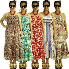 Chiffon Machine Washable Floral Maxi Dresses for Women