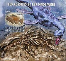 República Centroafricana 2015 estampillada sin montar o nunca montada fósiles & dinosaurios SELLOS 1v S/S