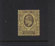 1902 3d DULL PURPLE/ORANGE-YELLOW KEVII DE LA RUE (O) M/MINT. SG 232