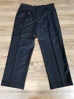 Joseph Abboud Pinstripe Pants Black Size: 44R/W38 (31 inseam).