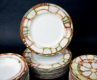 "(1) Only Sasaki Paula Zanger Colorful Dinner Plate 10 3/4"" Magnolia Pattern"