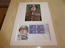 General George S. Patton Jr. Army WWII photograph & 1953 USA FDC mount size A4