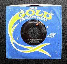 "7"" Elvis Presley-An American Trilogy-US RCA Oro standard"
