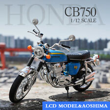 LCD MODEL 1:12 Scale Diecast Model Blue Honda DREAM CB750 FOUR Motorcycle