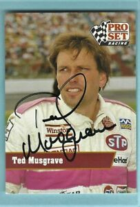 TED MUSGRAVE - Autographed  1991 Pro Set - Card #103     [m15]