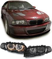 Angel Eyes Scheinwerfer + Blinker schwarz für BMW 3ER E46 Coupe Cabrio 99-03