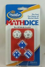 #G# ThinkFun Math Dice Game Mental Math Pratice, with Carrying Pouch, New