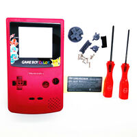 Red Picachu And Charmender Housing Shell for Nintendo Game boy Color GBC