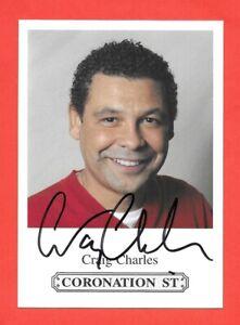 Craig Charles Signed Coronation St Photocard