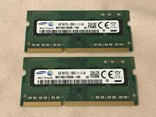 Lot of 8 GB (4 GB x 2) Samsung DDR3 PC3L-12800S Laptop RAM SO-DIMM Quick Ship