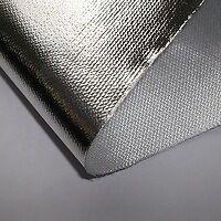 Auspuff Hitzeschild aluminierte Glas Faser Stoff Wrap - 1000MM x 500MM breit