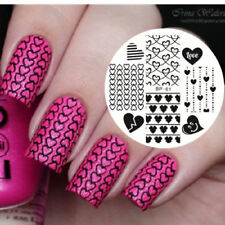 Nail Stamping Plates Love Heart Pattern Nail Art Image Template DIY BORN PRETTY