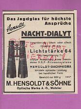 WETZLAR, Werbung 1936, M. Hensoldt & Söhne Optische Werke AG Nacht-Dialyt