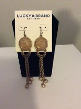 $39 Lucky Brand Jewelry Citrine Major Drop Earrings E-6