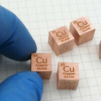 High Purity 99.95% Copper Cu Metal Carved Element Periodic Table Cube 10mm