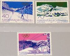 LIECHTENSTEIN 1979 735-37 678-80 Winter Olympics 1980 Lake Placid Skiing MNH