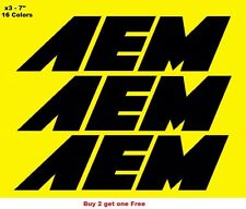 AEM Decal Stickers Set of 3 Mugen JDM Spoon Honda Civic Accord Prelude CRX