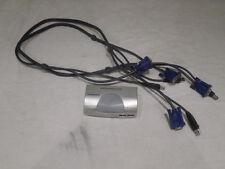 MINIVIEW IOGEAR 2 PORT MASTER VIEW USB KVM SWITCH GCS102U CS-102U W/ CABLES
