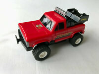 Vintage Rare ERTL POWRTRONS Zoomer Transformer Toy Robot 4 x 4 Red Jeep Truck