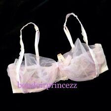 NEW Victorias Secret 34C Bra Dream Angels Unlined Demi Sheer Mesh Tulle Lace S