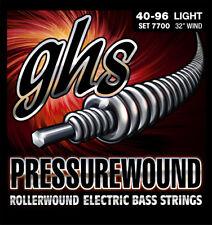 GHS 7700 Short-Scale Pressurewound Bass Strings - Light