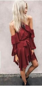 Sheike Diva maroon burgundy dress size 8