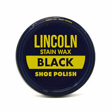 Lincoln Stain Wax Shoe Polish 3oz BLACK