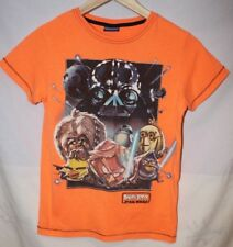 KIDS BOYS Short sleeved T-Shirt AGE 9 years NEXT Angry Birds Star wars orange