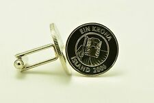 Iceland 1 Krona Fish - Wizard Coin Cufflinks
