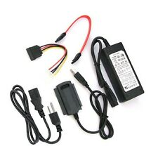 USB 2.0 to SATA IDE with power adapter Converter For 3.5 Hard Drive Black 1PCS