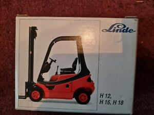 Collection of Linde Diecast Forklift Truck Models - Boxed