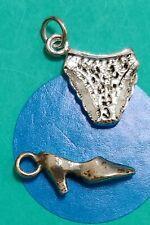 Y34 Shoe And Undies Sterling Silver Vintage Charm Bracelet