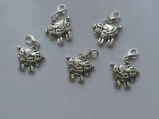 Set of 5 SHEEP  Stitch Markers,Knitting,Crochet,Charms Row  Counters  crafts