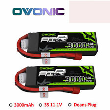 2X Ovonic 50C 3000mAh 11.1V 3S Lipo Akku mit T Plug for RC Car helicopter FPV