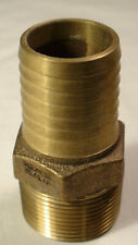 (9) MALE ADAPTER 312-006 1-1/4 x PIPE  (BARBED 125 PSI BRONZE)