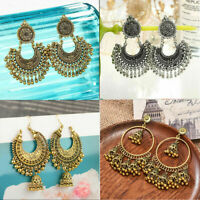 Metal Tassel Jhumka Indian Ethnic Bollywood Dangle Earrings Lady Fashion Jewelry