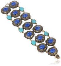 LUCKY BRAND Wide Blue Stone Bracelet Boho Festival Hippie